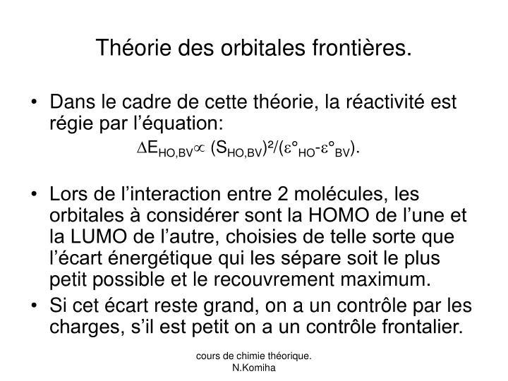 Théorie des orbitales frontières.