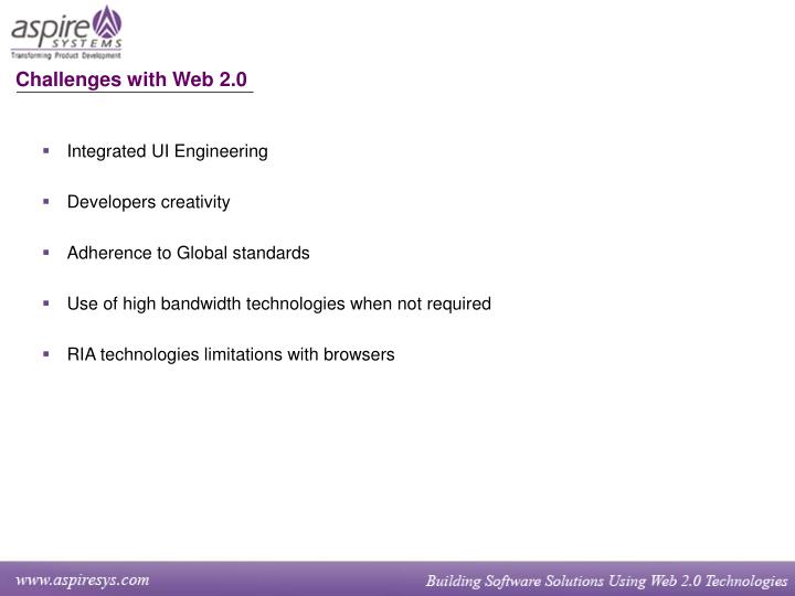 Challenges with Web 2.0