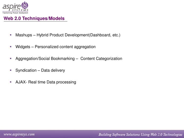 Web 2.0 Techniques/Models