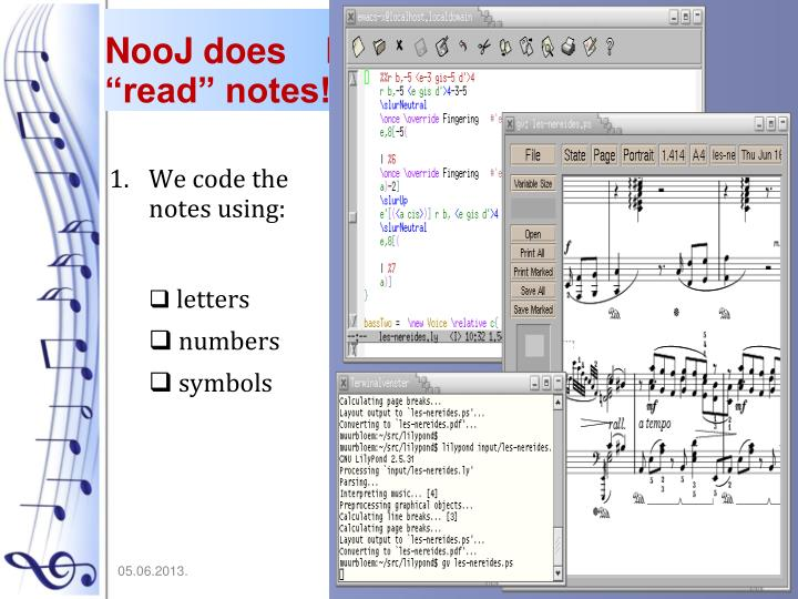 "NooJ does    NOT ""read"" notes!"