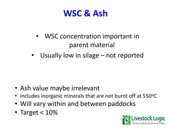 WSC & Ash
