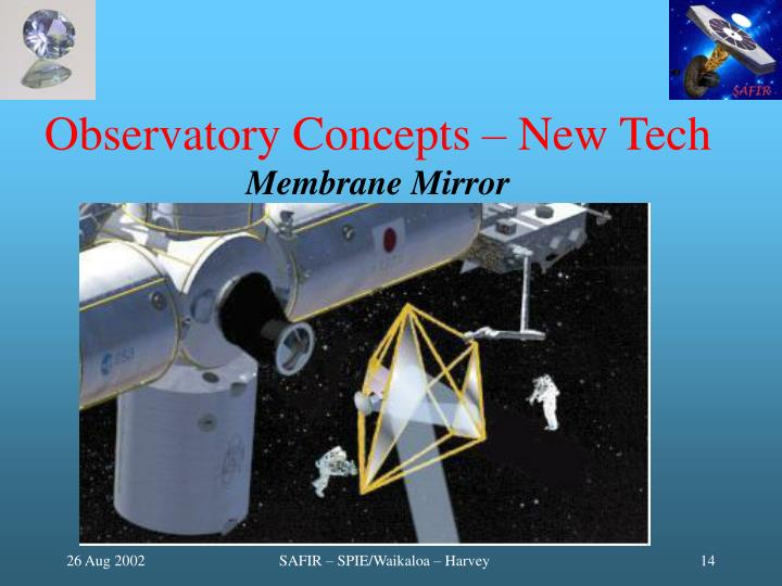 Observatory Concepts – New Tech