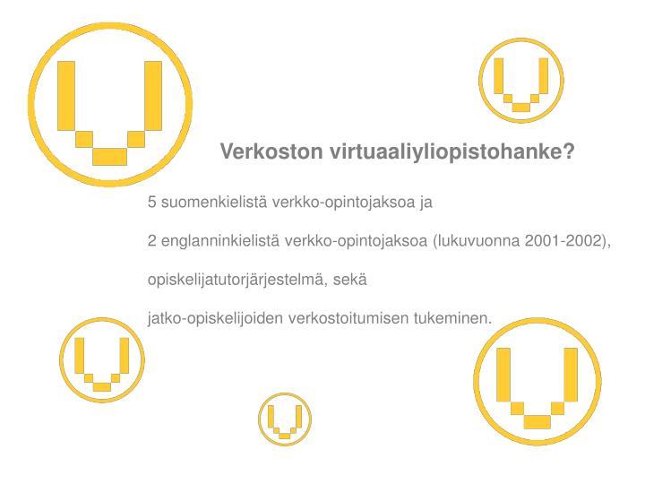 Verkoston virtuaaliyliopistohanke?