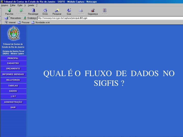 QUAL É O  FLUXO  DE  DADOS  NO  SIGFIS ?