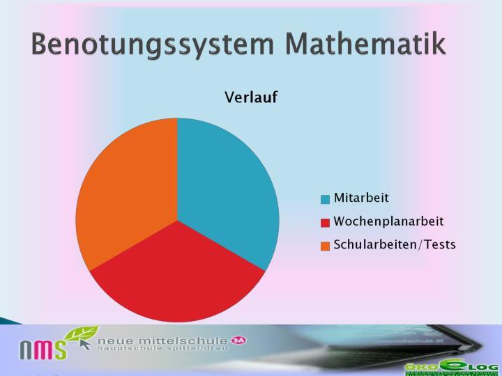 Benotungssystem Mathematik