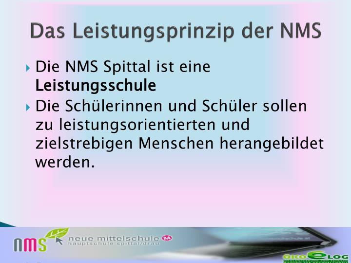 Das Leistungsprinzip der NMS
