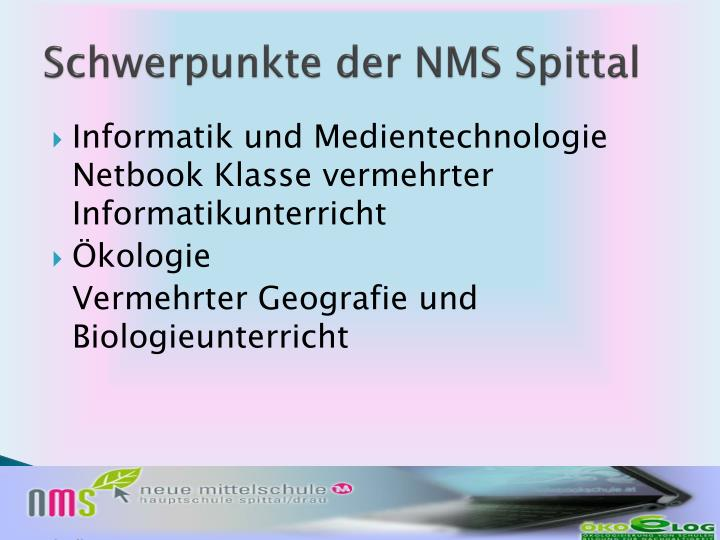 Schwerpunkte der NMS Spittal