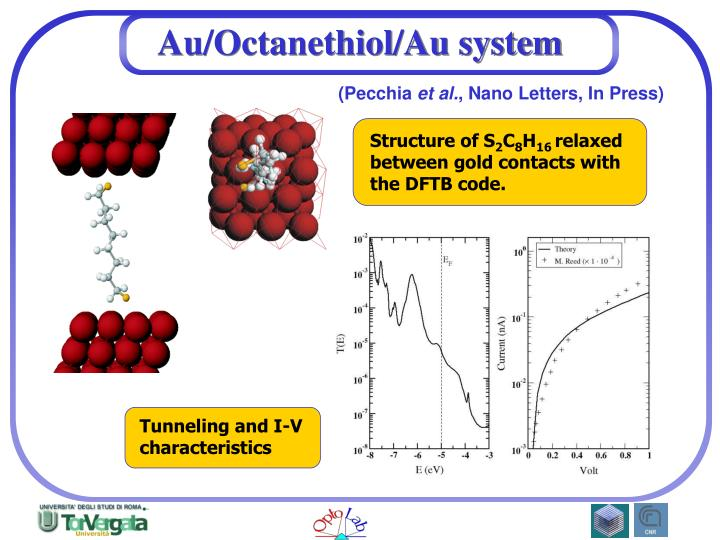 Au/Octanethiol/Au system