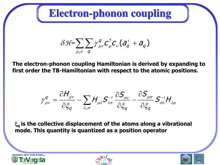 Electron-phonon coupling