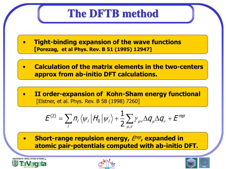 The dftb method