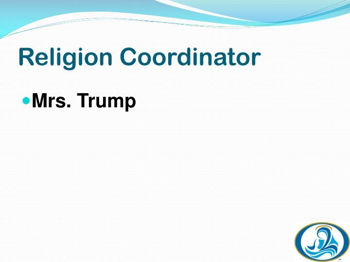 Religion Coordinator