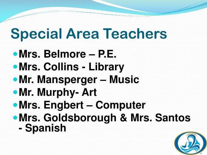 Special Area Teachers
