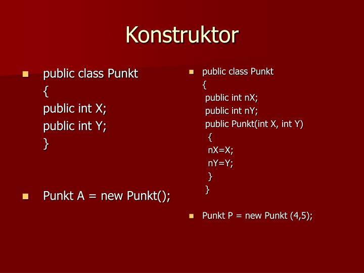public class Punkt