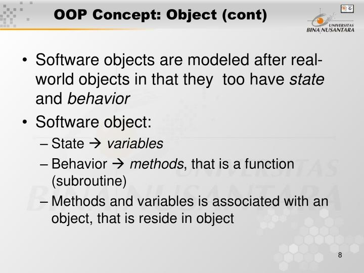 OOP Concept: Object (cont)