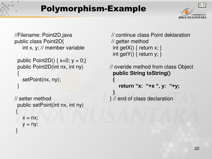 Polymorphism-Example
