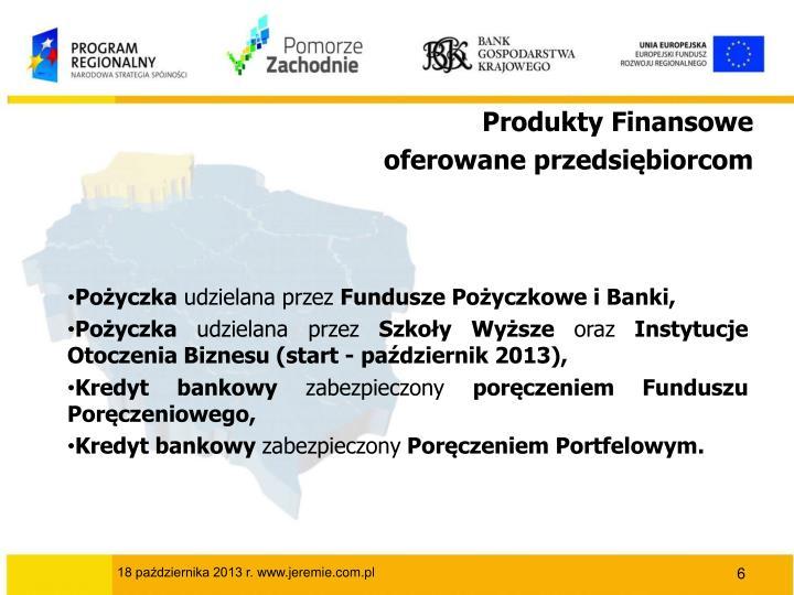Produkty Finansowe