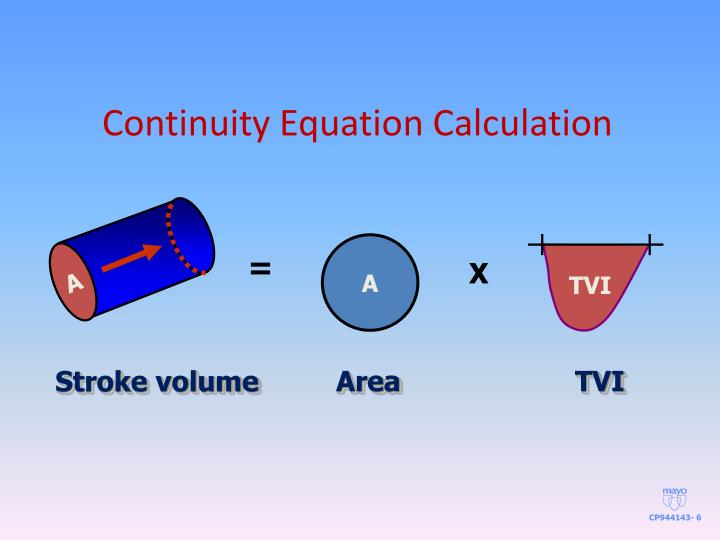 Continuity Equation Calculation