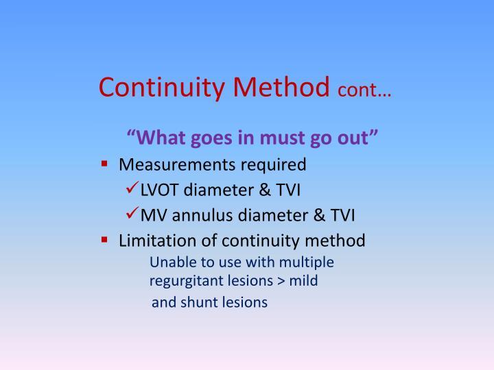 Continuity Method