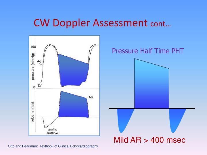 CW Doppler Assessment
