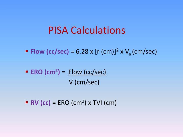 PISA Calculations