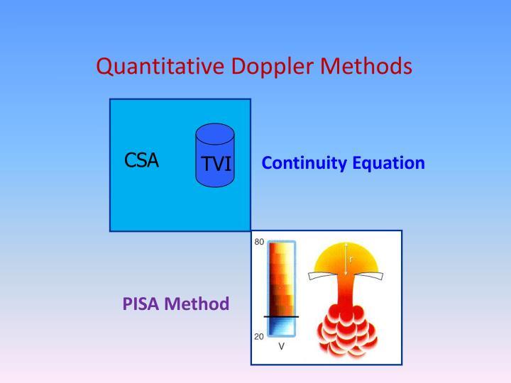 Quantitative Doppler Methods