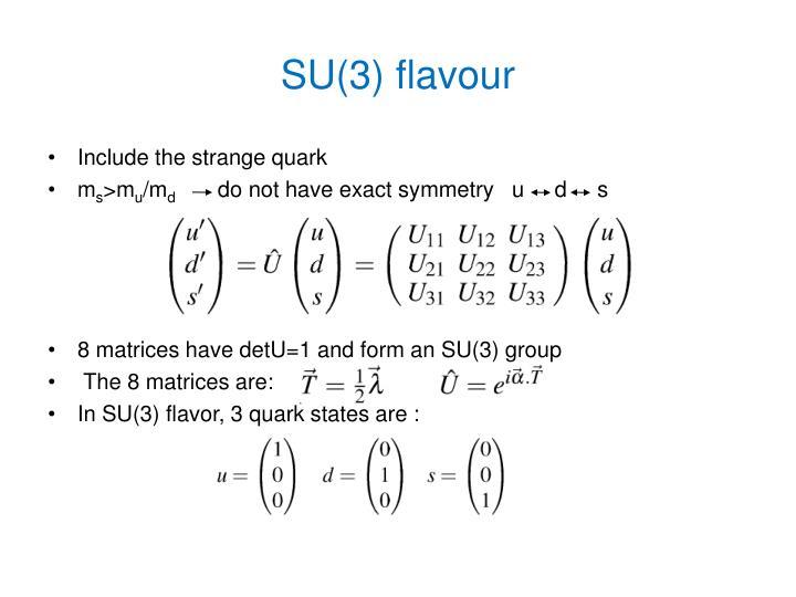 SU(3) flavour