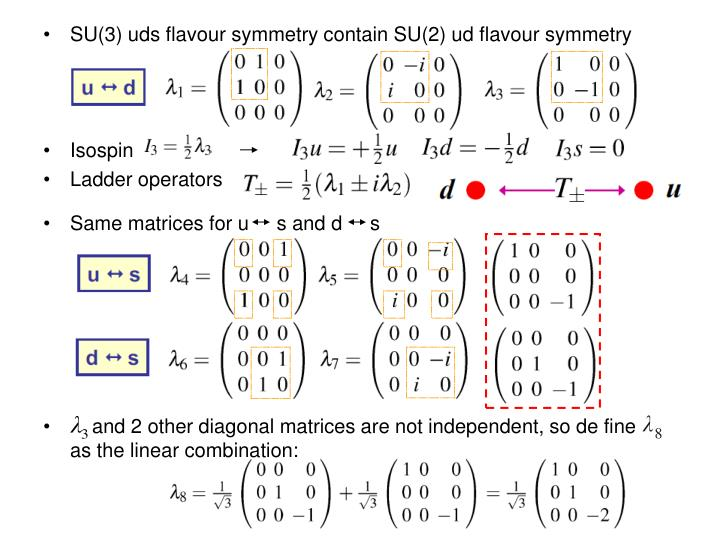 SU(3) uds flavour symmetry contain SU(2) ud flavour symmetry