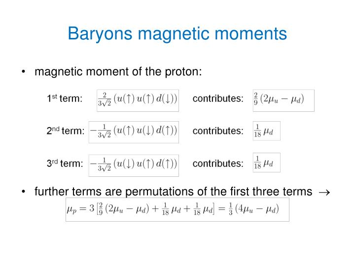 Baryons magnetic moments