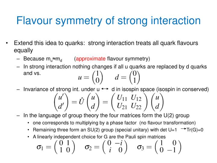 Flavour symmetry of strong interaction
