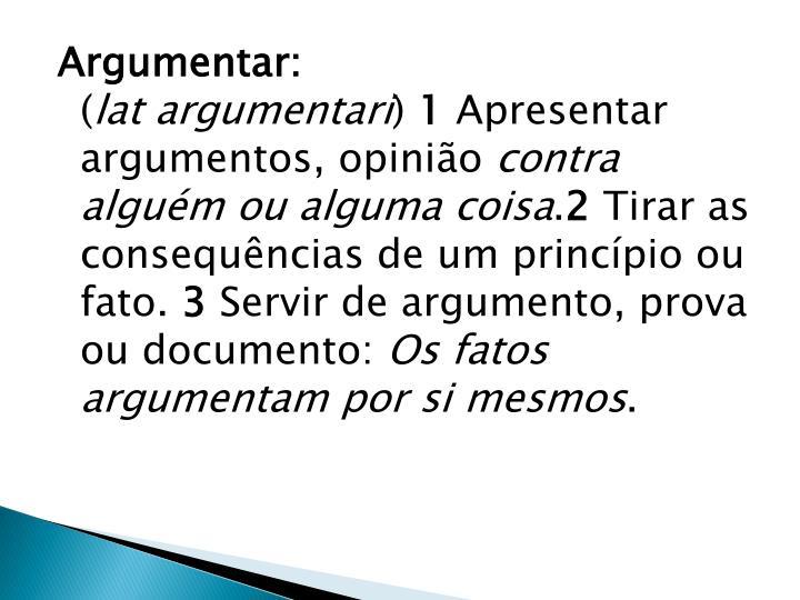 Argumentar: