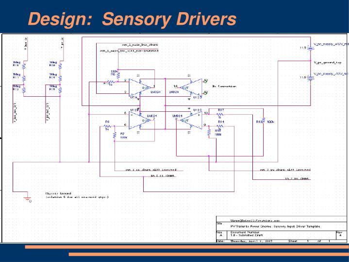 Design:  Sensory Drivers
