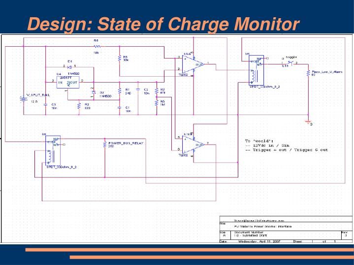 Design: State of Charge Monitor