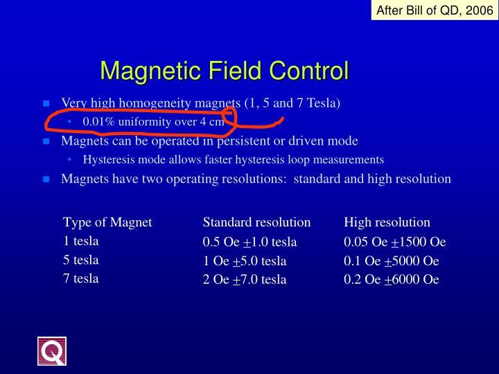Very high homogeneity magnets (1, 5 and 7 Tesla)