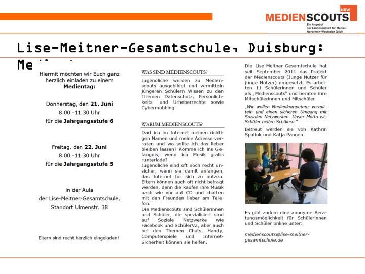 Lise-Meitner-Gesamtschule, Duisburg: Medientage