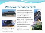 wastewater submersible