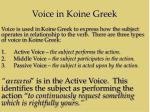 voice in koine greek