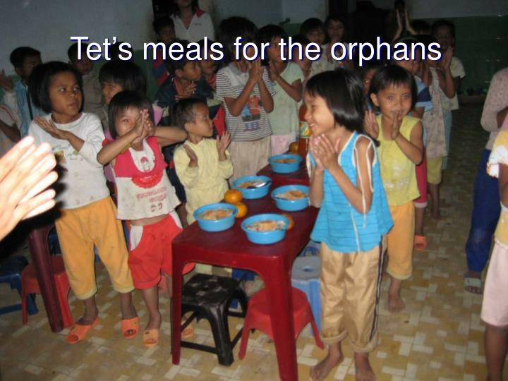 Tet's meals for the orphans