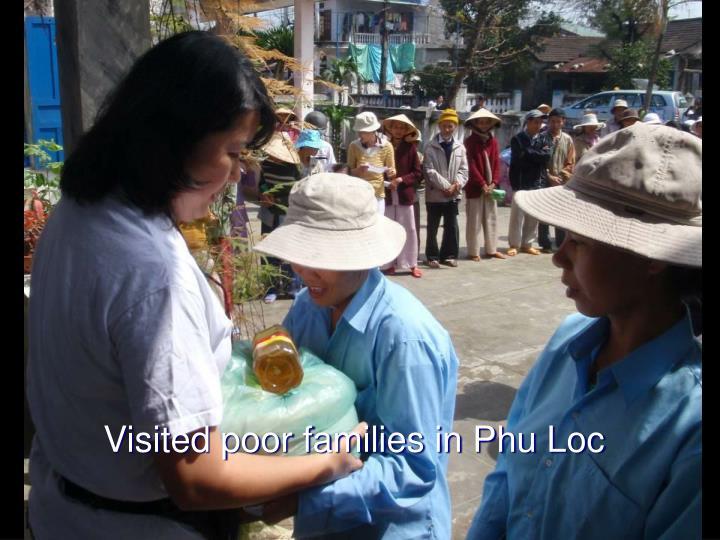 Visited poor families in Phu Loc