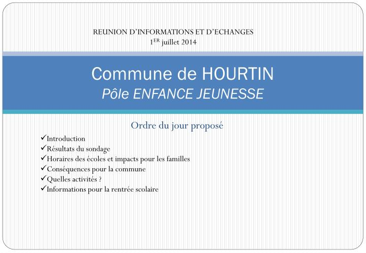 REUNION D'INFORMATIONS ET D'ECHANGES