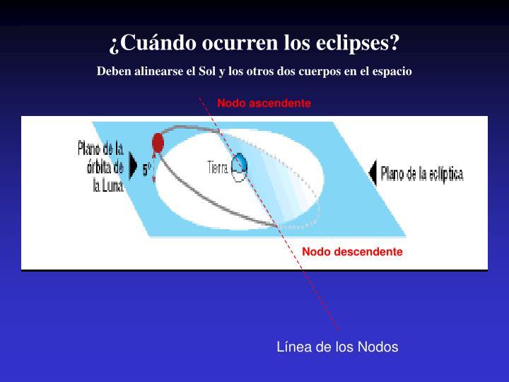 ¿Cuándo ocurren los eclipses?
