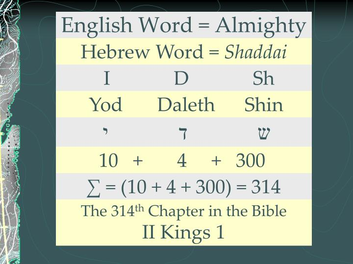 English Word = Almighty
