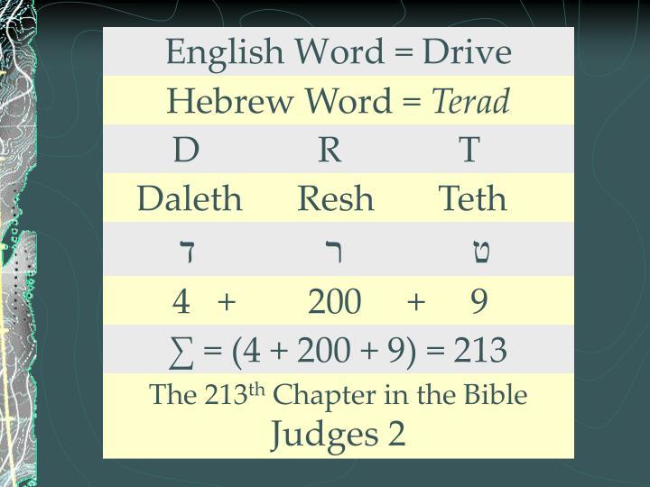 English Word = Drive