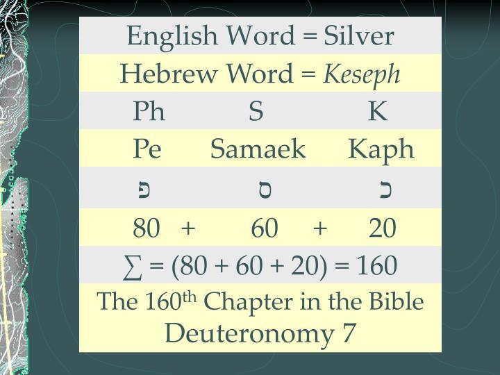 English Word = Silver