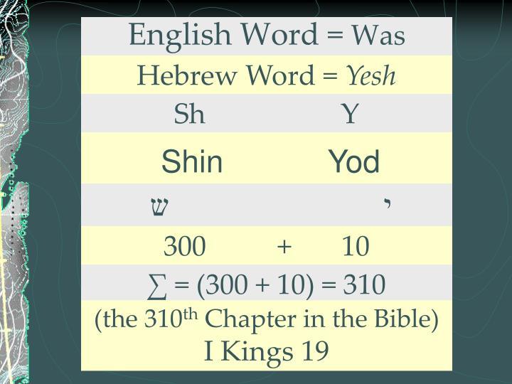 English Word =