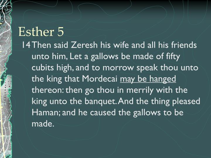 Esther 5