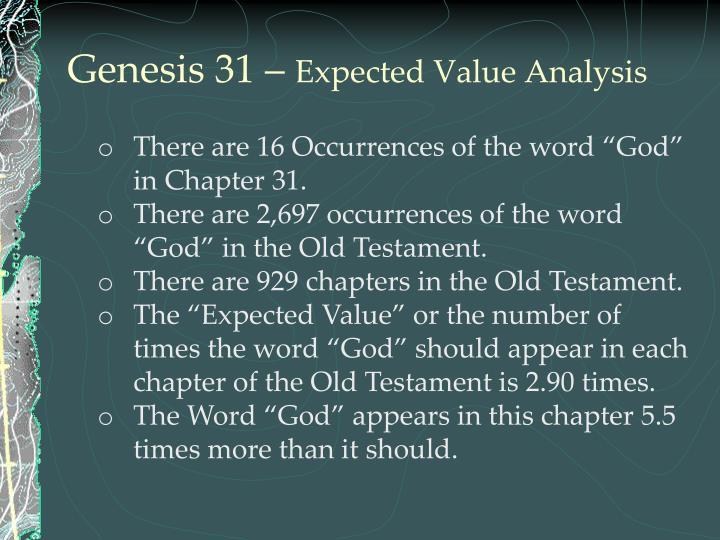 Genesis 31 –