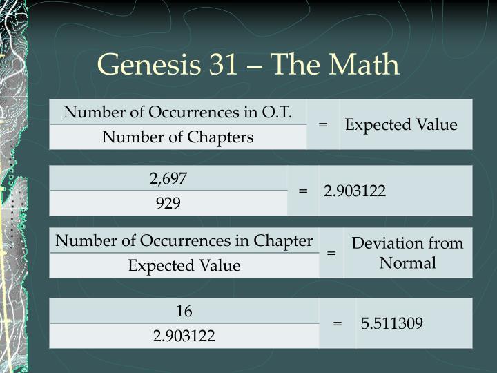 Genesis 31 – The Math
