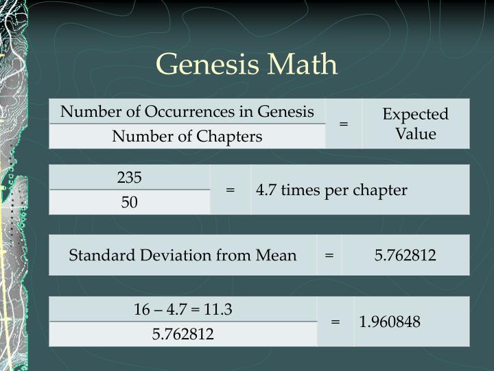 Genesis Math
