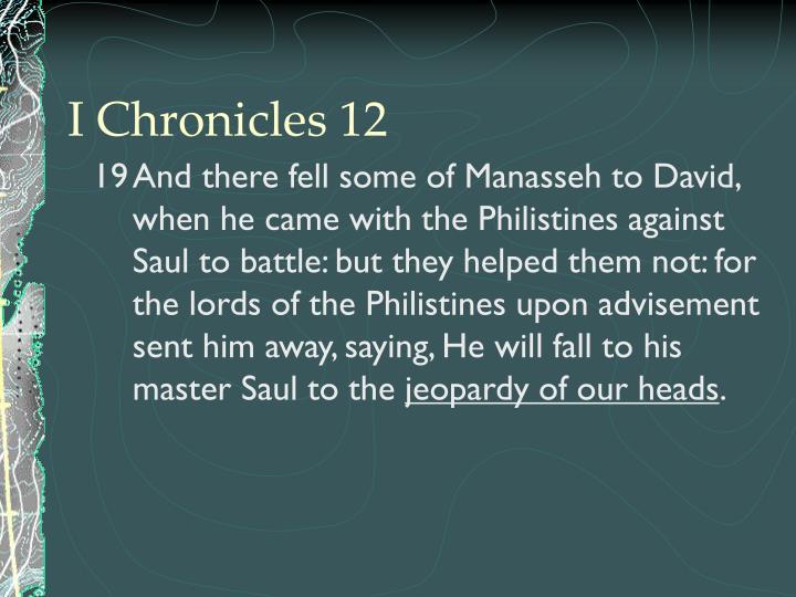 I Chronicles 12
