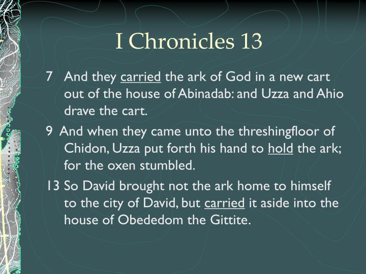 I Chronicles 13